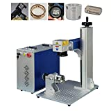 US Stock 50W JPT Fiber Laser Engraver Machine Fiber Laser Marking Machine Engraving Machine 175×175mm Lens with Rotary Axis