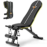 Weight Bench Adjustable, Figolo Workout Bench with Thicken Premium Steel Widen Seat for Home Gym Strength...
