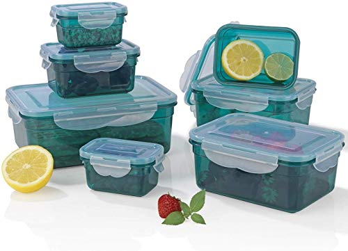 GOURMETmaxx 02914 contenitori per alimenti Klick-it, 14 pezzi, adatto per microonde, congelatore e lavastoviglie