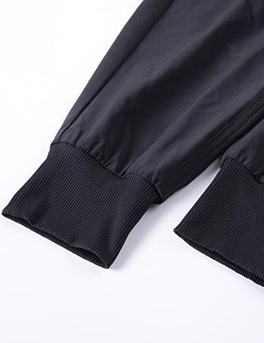 CRZ YOGA Women's Lightweight Joggers Pants with Pockets Drawstring Workout Running Pants with Elastic Waist Black Medium 5