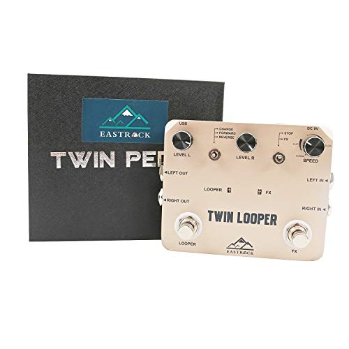 EastRock Deluxe Looper Guitar Effect Pedal Mini Looper Guitar Pedals Loop Station (Deluxe Looper)
