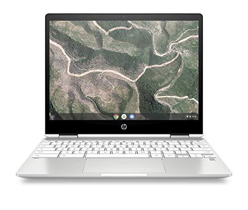 HP Chromebook x360 12b-ca0005nf Ordinateur Ultraportable Convertible et Tactile 12'' HD IPS Blanc (Intel Celeron, RAM 4 Go, eMMC 32 Go, AZERTY, Chrome...