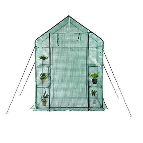 Greenhouse,Indoor and Outdoor Greenhouse,Window and Anchors Include,Grow Plants Seedlings Herbs or Flowers(56'×30'×76')