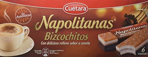CUETARA Napolitanas bizcochitos con relleno sabor canela caj