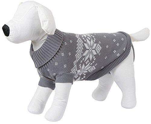 Kerbl 81404 Pullover Lillehammer, 35 cm, grau/weiß
