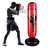 SOONHUA Saco de boxeo inflable para adultos de 67 pulgadas, saco de boxeo de pie para ejercicio en el hogar y alivio del estrés