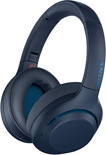 Sony WH-XB900N Wireless Bluetooth Noise Cancelling Extra Bass Headphones with 30 Hours Battery Life, Touch Control, Quick Attention Mode, Headset with mic for Phone Calls with Alexa – (Blue)