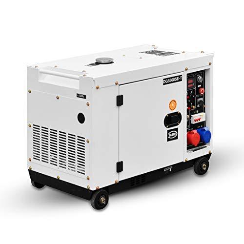 HIOD Stromaggregat Stromerzeuger Notstromaggregat Stromgenerator Notfallgenerator 8500W, 6.9kva-7.9kva, 230 V / 400 V, 6 Phase Dieselversorgung