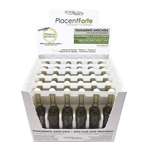 NUEVO ENVASE: Tratamiento Anticaída PlacentForte Placenta y Vitaminas sesiomworld 36...
