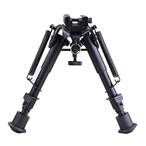 CVLIFE 6-9 Inches Tactical Rifle Bipod Adjustable Spring...