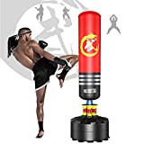 Dripex Freestanding Punching Bag 69'' - 182lb Heavy Boxing Bag with Suction Cup Base for Adult Youth Women Men- Free Stand Kickboxing Bags Kick Punch Bag | Red