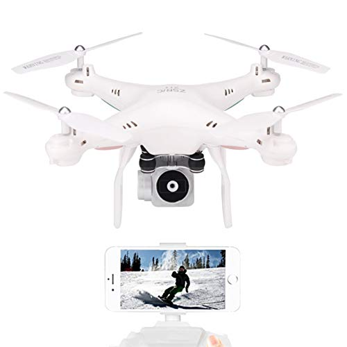 ZHAO Drone Unmanned Aerial Vehicle Aerial Photographic Photographic Aircraft Aircraft Aircraft HD 720 P Fotografia Aerea in Tempo Reale (Colore : Bianca)