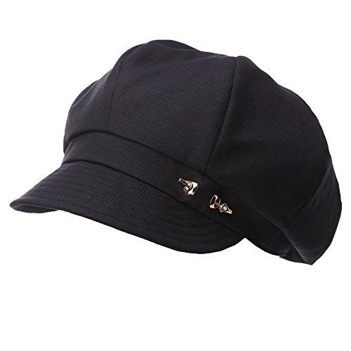 Comhats Damen 8-Panel Schirmmütze Cabbie Maler Mütze 56-59CM schwarz