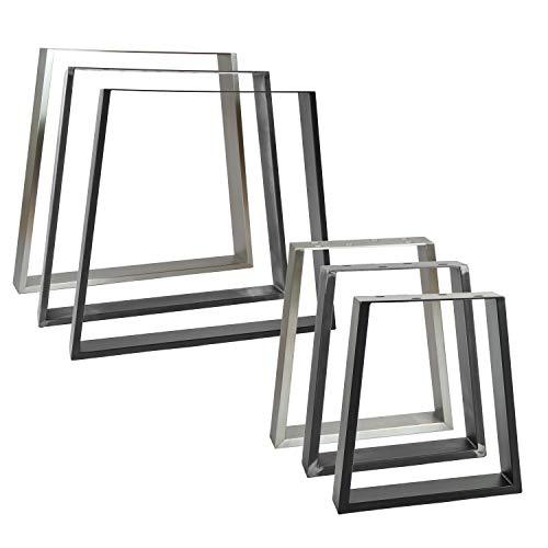 2x Natural Goods Berlin Tischkufen TRAPEZ Design Möbelkufen V-Form Metall Tischbeine scandic   Loft Tischgestell aus Stahl   Tischkuven, Hairpin Legs (B60/80 x H72cm (Esstisch/Schreibtisch), Schwarz)