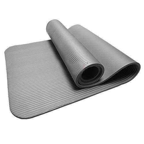 Comie 4MM rutschfeste Yogamatte, Gymnastikmatte Fitness Trainingsmatte Haltbare Fitnessmatte Premium Sportmatte Yoga Matte Mat Übung Gym Workout Handtuch Decke 4MM (Grau)