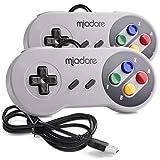 2 Pack USB Controller for SNES Retro Gaming, miadore USB Classic Gamepad Joypad Gamestick for Windows PC MAC Linux Raspberry Pi 3