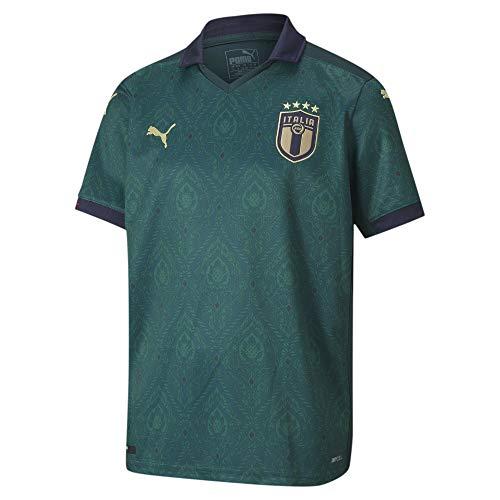 PUMA Kinder FIGC Third Shirt Replica Jr Trikot, Ponderosa Pine-Peacoat, 128