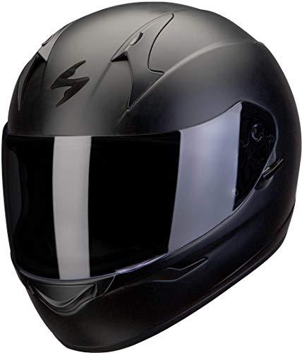 SCORPION Casque de Moto EXO 390 SOLID, Noir mat, M
