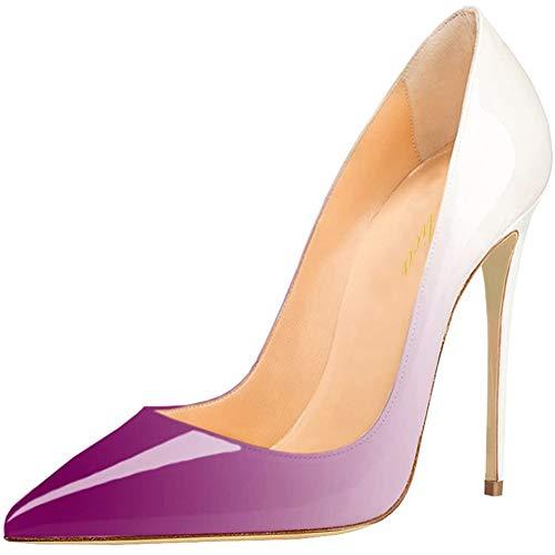 Lutalica W Omen's Classic - Zapatos de tacón alto con punta de charol para fiestas, bodas, color, talla 39 EU