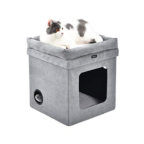 Amazon Basics - Casa para gato plegable, Gris