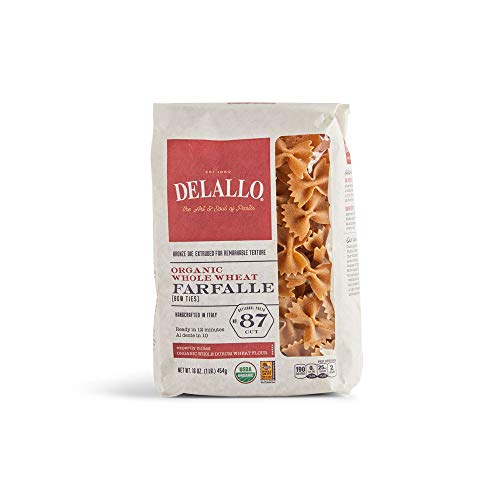 DeLallo Organic Whole Wheat Farfalle No.87 - 16 oz
