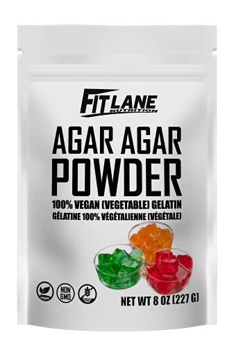 Agar Agar Powder. Organic Vegan (Vegetarian) Gelatin. Non GMO, Gluten Free and Nutrient Rich. 8 oz Bag, Unflavored.