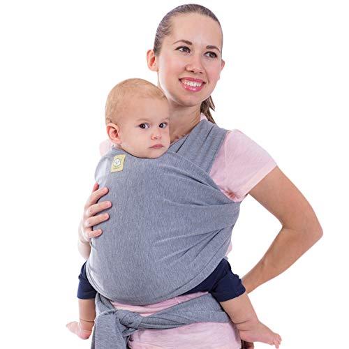 Elastico Baby Wrap All in 1 per bambini - Marsupio - Porta per neonati - Baby Wrap (grigio classico)