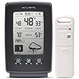 AcuRite Digital Weather Forecaster with Indoor/Outdoor Temperature, Humidity, and Moon Phase (00829)...