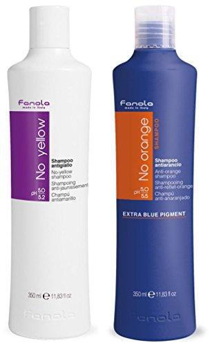 Fanola No Yellow and No Orange Shampoo Package,...