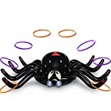 MeiGuiSha Halloween 50 Inch Huge Inflatable Spider Ring Toss Game with 8 Ring Toss