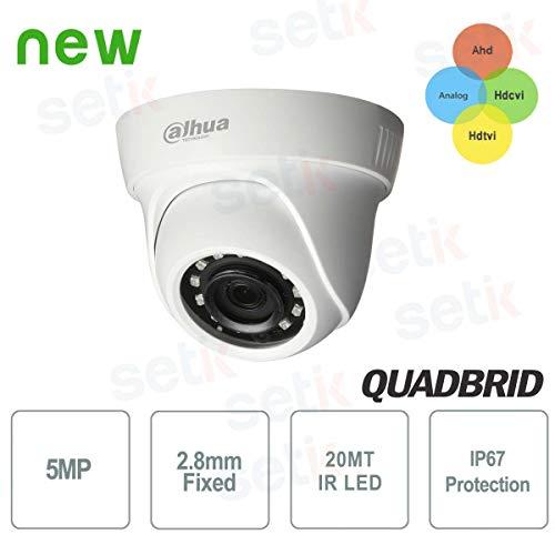 Dahua - Telecamera Videosorveglianza Dahua 5 MP AHD Ibrida 4in1 12 LED IR 2.8 MM - HAC-HDW1500SL