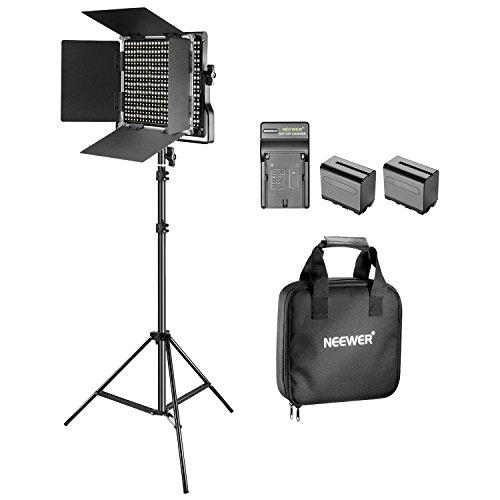 Neewer Luce Video Bi-colore LED e Kit di Supporto con Batteria e Caricabatterie-Dimmable 660 LED con...