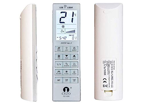 Cezo Universal Air Conditioner Remote Control Suitable for All Models of Daikin, LG, Samsung,...