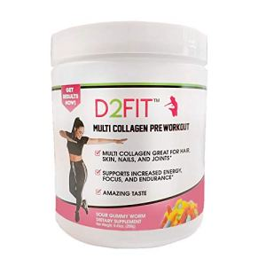 D2Fit (by Jessica Bass) Women's Pre Workout Multi Collagen (2,500mg) + Biotin (150mcg) - Great for Healthy Hair, Skin… 8