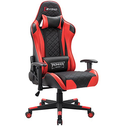 Devoko Racing Style Gaming Chair Height Adjustable Swivel PC Computer...