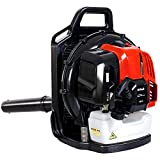 PX-Trunk Gas Leaf Blower 52cc 2 Cycle Engine Backpack Blower Powerful Gas Powered Blower 600CFM Commercial Blower for Lawn Garden Blowing Leaves, Snow Debris and Dust