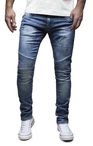 MERISH Herren Jeanshose Chino SLIM FIT Jeans Hose 4 Farben Neu Style...