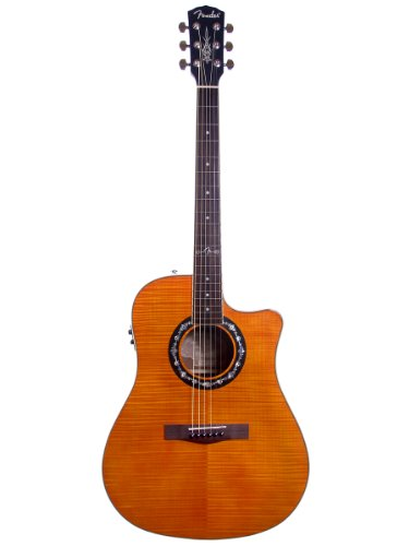 Fender T-Bucket 300CE Dreadnought Cutaway Flame Maple Acoustic-Electric Guitar - Burnt Orange