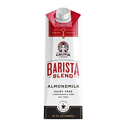 Califia Farms Original Almondmilk Barista Blend, 32 Oz (Pack of 6) | Dairy Free | Plant Based | Nut Milk | Vegan | Non-GMO