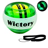 Wictory Wrist Exerciser Ball Auto-Start Powerball, Forearm Trainer Hand Grip Strengthener Spinner Gyro Ball Workout Toy (Green)