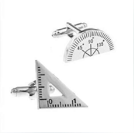 Cute Protractor and Triangler Ruler Cufflinks,gift to Math...