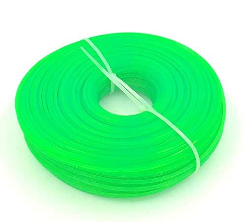 Bobina di 100 m di filo da taglio a sezione esagonale, per ricambio di decespugliatore, dello spessore di 3,0mm