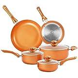 Furnikko Nonstick Pots and Pans Set, 9 Pcs Cookware Set, Non-stick Frying Pan Ceramic Coating...