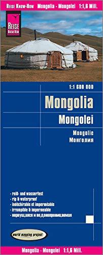 Mongolia, mapa impermeable de carreteras. Escala 1:1.600.000 impermeable. Reise Know-How.: world map