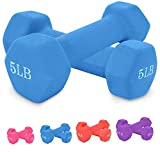 Dumbbell Set, A Pair Barbell Neoprene Coated Rubber Encased Hex Dumbbells, Hex Dumb Bell Free Weight Dumbbell for Women Men Home Gym Workout Strength Training, Weight (3lb/5lb/8lb/10lb)