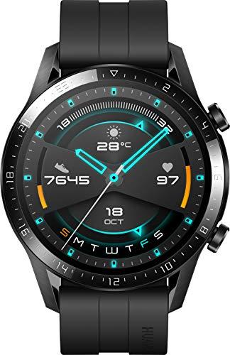 HUAWEI Watch GT 2 (46 mm) - mit Herzfrequenz-Messung, Musik Wiedergabe & Bluetooth Telefonie - 5ATM wasserdicht + 5EUR Amazon Gutschein, Matte Black