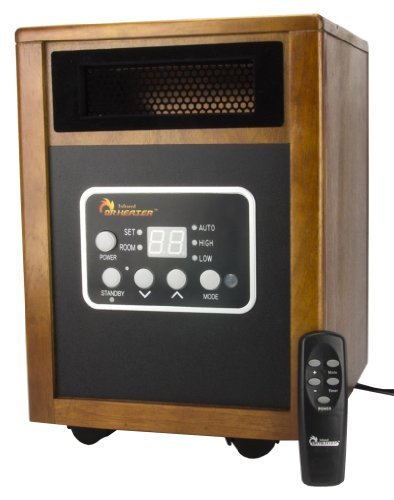 Dr. Infrared Heater DR968 Portable Infrared Space Heater With Caster Wheels by Dr. Infrared Heater