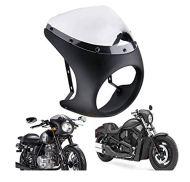 Qlkx Carenado del Manillar Faro Moto 7 Pulgadas Retro Cafe Racer Style Universal Cobertor de lámpara
