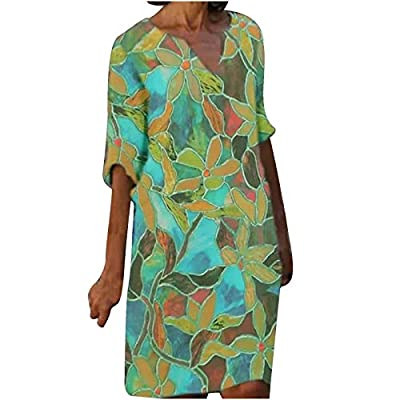The Womens Party Dresses Adopts High Quality Cotton Blend Outer Fabric, Soft And Breathable The Comfy And Stretchy Material With Simple And Solid Color Plain Halter Dress Design Makes This Summer Mini Dress Suitable For Most Lady's Body Shape This Dr...