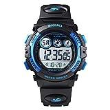 Skmei Kids Sports Watch, Multi Function Digital Kids Watches Waterproof LED Light Wristwatches for Boys Girls (Black)